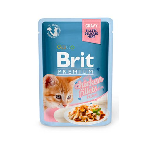 Brit-Blue-Cat-Delicate-Fillets-in-Gravy-with-Chicken-for-Kitten-Wet