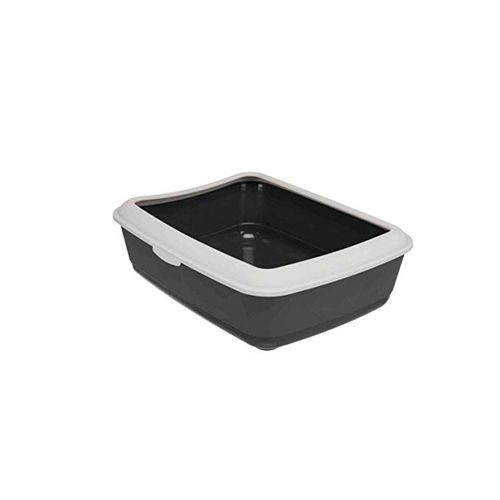 Trixie-WC-Classic-Litter-Tray-with-Rim-Castanho---Creme-