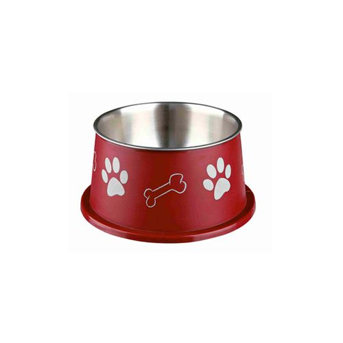 Trixie-Long-Ear-Bowl-in-Stainless-Steel-and-Plastic-Vermelho