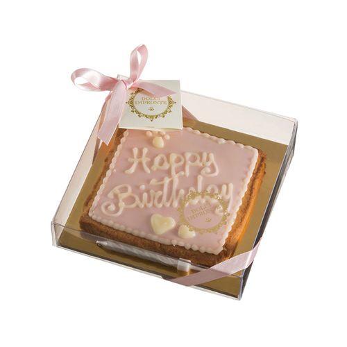 Bolinho-biscoito-aniversario-quadrado-glace-rosa