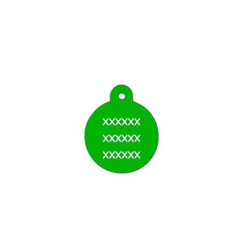 Medalha-verde-com-formato-redondo-muito-pequeno-altura-19-cm-X-largura-19-cm
