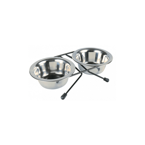 Trixie-Eat-on-Feet-Stainless-Steel-Bowl-Set