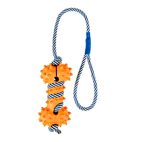 Trixie-Corda-Fosforescente-com-Osso-em-Borracha---11-cm