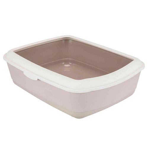 Trixie-WC-Classic-Litter-Tray-with-Rim-Caqui-e-Caqui-Claro