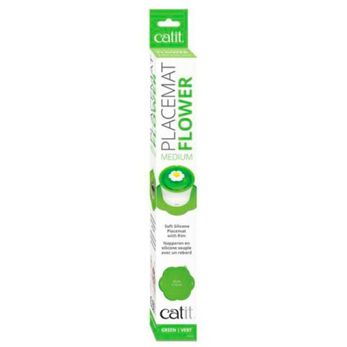 Catit-Tapete-Flor-Silicone-Verde