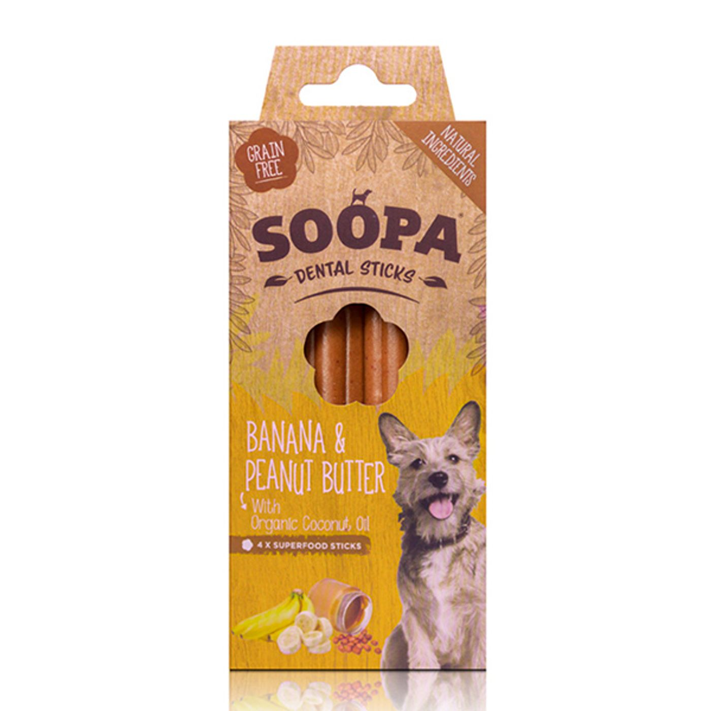 Soopa-Dental-Sticks--Banana---Manteiga-de-Amendoim