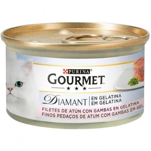 Gourmet-Diamant-com-Pedacos-em-Gelatina-Atum-e-Gambas