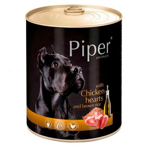 Piper-cao-adulto-racao-humida-Coracao-de-Galinha-e-Arroz-Integral
