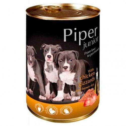 Piper-cao-junior-racao-humida-Frango-e-Arroz-Integral
