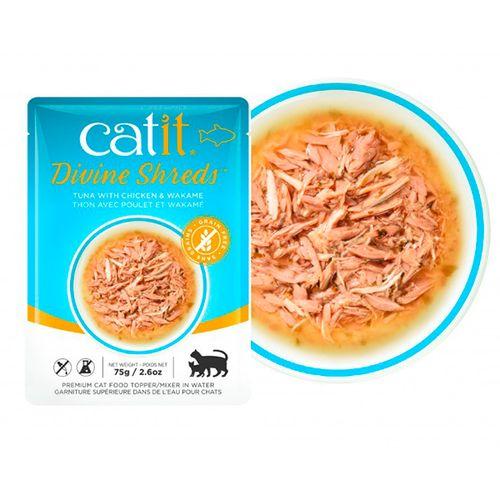Catit-Divine-Shreds-com-Atum-Frango-e-Wakame-75g
