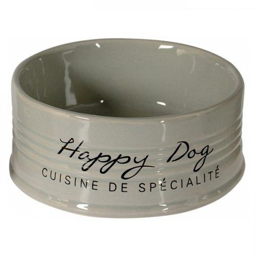 Duvo--Taca-em-ceramica-cinza-Happy-Dog
